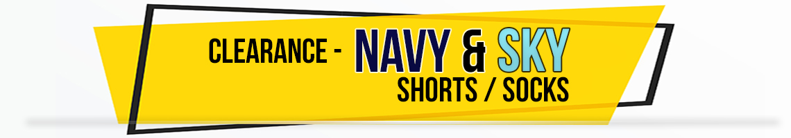navy sky shorts socks